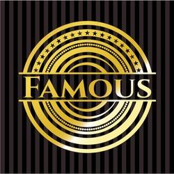 Famous golden badge