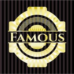 Famous golden badge or emblem