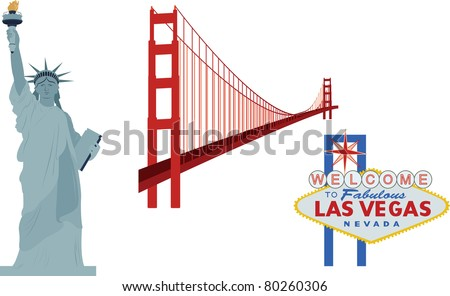 famous landmarks  usa   statue