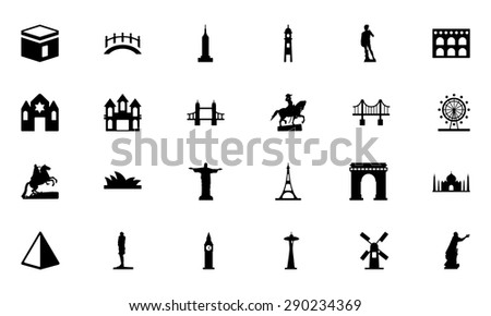 Shutterstock Famous Monuments Vector Icons 1