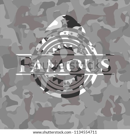 famous on grey camo texture