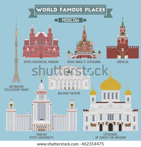 famous places of moscow  russia