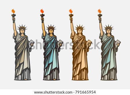 famous statue of liberty....
