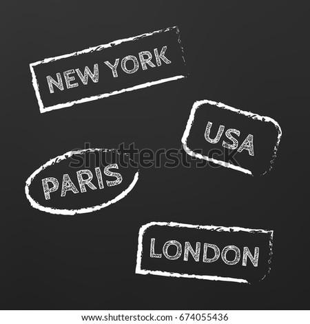 Famous world monuments, landmarks vector