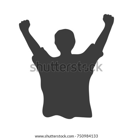 Fan Background. Black vector illustration on white background.