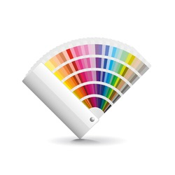 Fan color isolated on white photo-realistic vector illustration