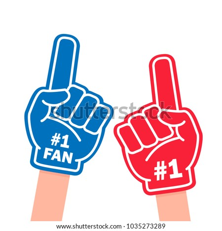 fan foam finger blue and red