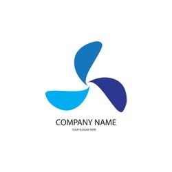 fan icon logo vector design
