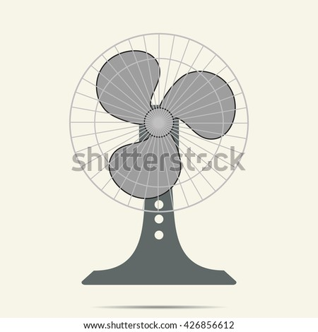 fan icon on white background