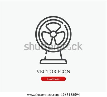 Fan vector icon. Editable stroke. Symbol in Line Art Style for Design, Presentation, Website or Apps Elements, Logo. Pixel vector graphics - Vector