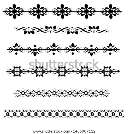 Fancy black and white ornate borders