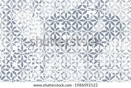 Fancy fabric linen, blended with washed coat surface tile  jacquard  texture digital printing pattern design. Yarns for sports style.  Vector fabric seamless pattern. Abstract natural textured
