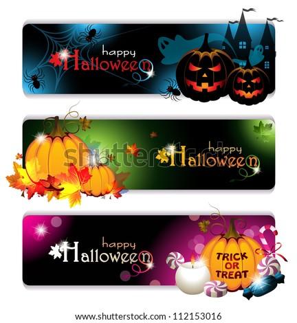 fancy halloween banners   eps 10