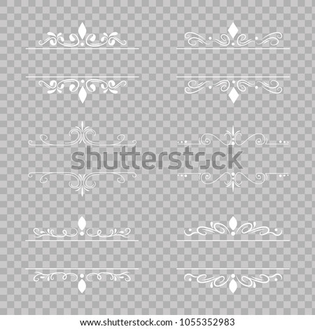 Fancy Lines On Transparent Background Vector