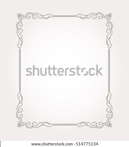Fancy page decoration. Decorative frame border. Vector illustration #514775134