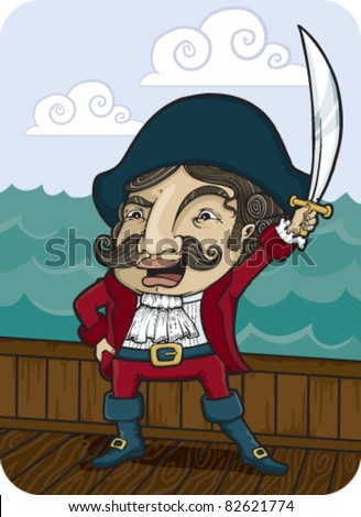 fancy pirate sailing the seven