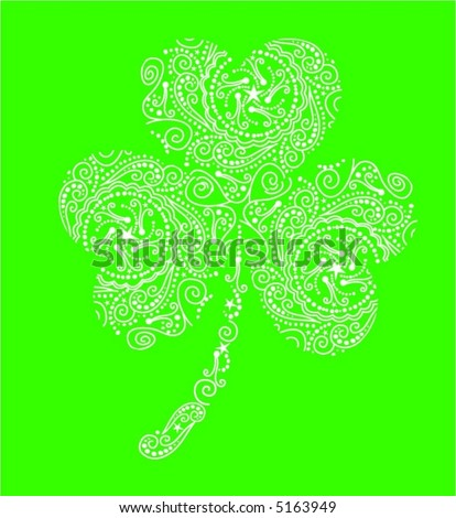 stock vector : Fancy Shamrock Tattoo Design
