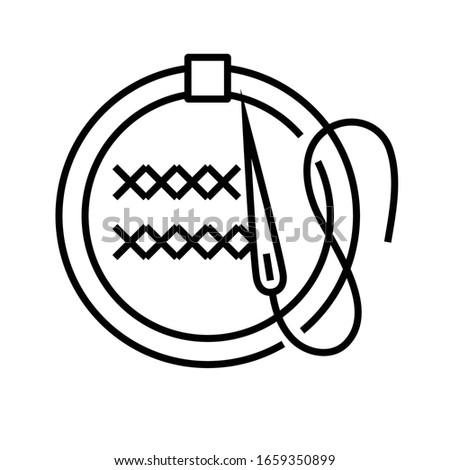 Fancywork line icon, concept sign, outline vector illustration, linear symbol. Stock photo ©