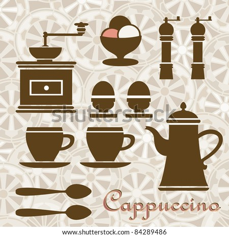 Fantasia on a Theme of coffee and breakfast. Can be used as a menu.