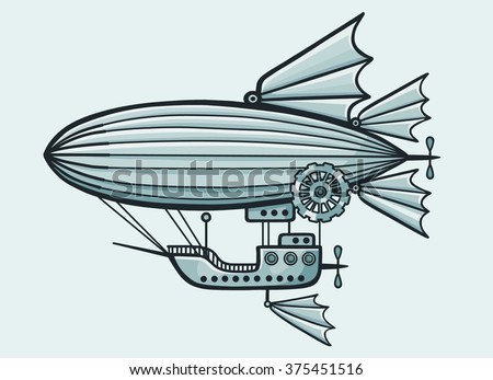fantastic airship isolated on