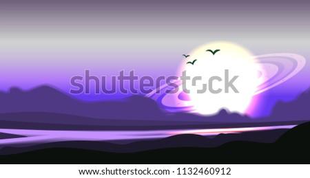 fantastic colored panorama