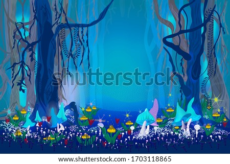 fantastic mysterious forest