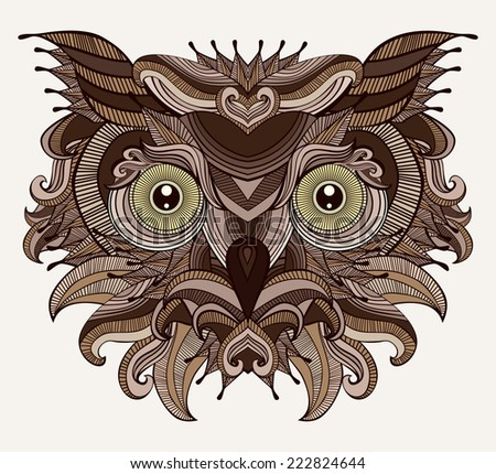 fantastic owl serious bird is