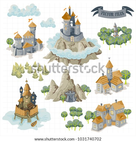 fantasy adventure map elements