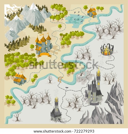 fantasy adventure map elements
