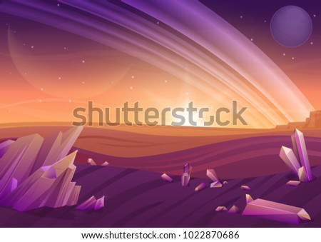 fantasy alien landscape