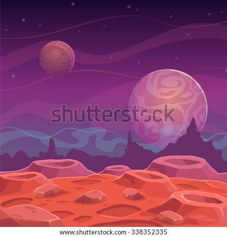 fantasy alien landscape  vector