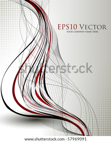 Fantasy background composition - vector illustration