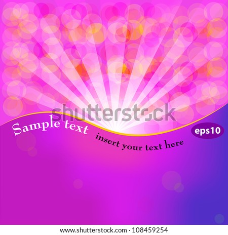 Fantasy background with place for your text. Vector