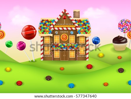 fantasy candyland with