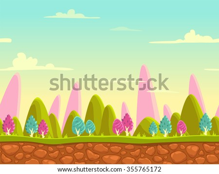 fantasy cartoon landscape