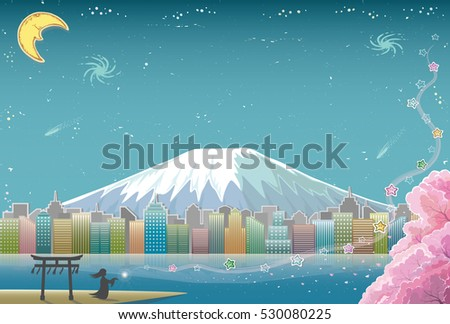 fantasy city background with