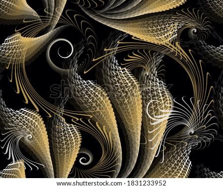 fantasy 3d seamless pattern