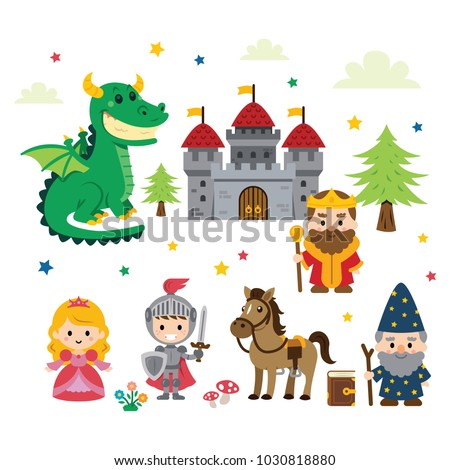 fantasy fairy tale clipart with