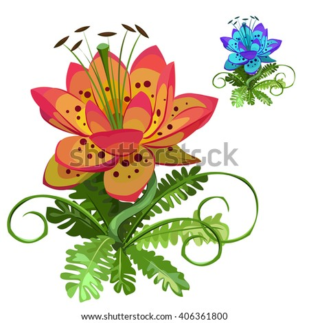 fantasy flower with lily flower