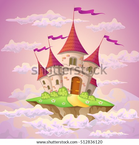 fantasy flying island with
