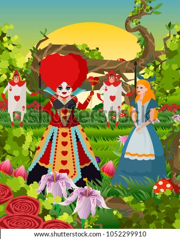 fantasy girl with red queen