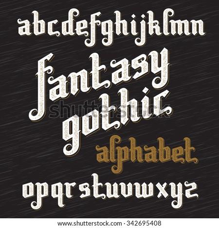 fantasy gothic font retro