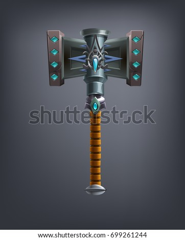 fantasy hammer weapon for game