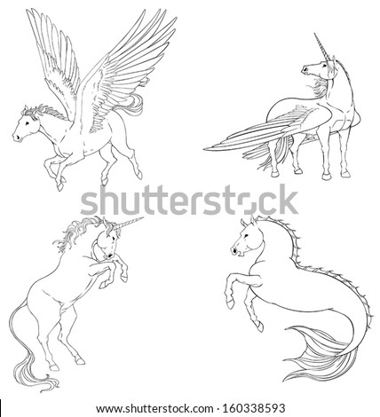 fantasy horse collection set in