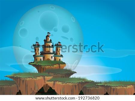 fantasy landscape with castle