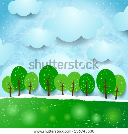 fantasy landscape with trees