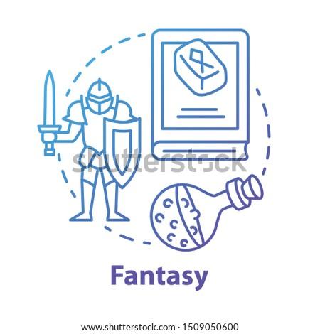 fantasy literature blue concept