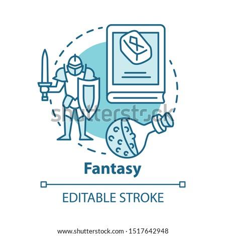 fantasy literature concept icon