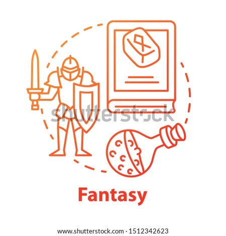 fantasy literature red concept