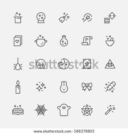 Fantasy Magic Icon vector illustration flat design